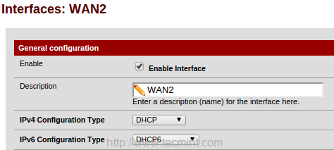 Configure WAN2 Interface