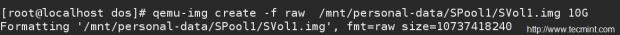 Create KVM Storage Volumes