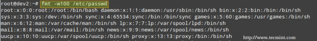 Linux fmt Command Examples