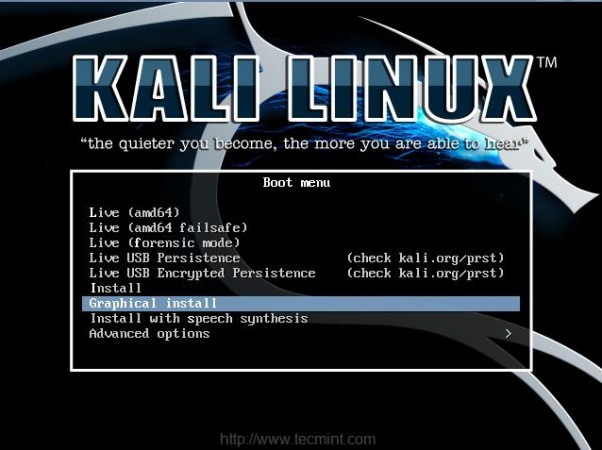 Kali Boot Screen