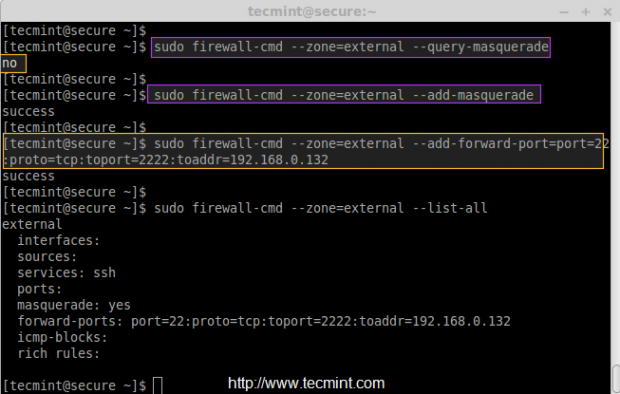 Port Forwarding in Firewalld