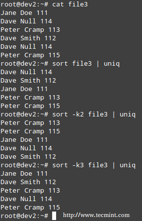 Remove Duplicate Lines in Linux