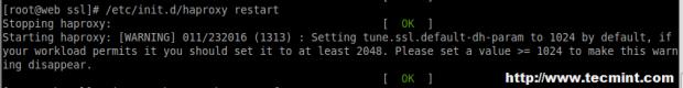 SSL HAProxy Error
