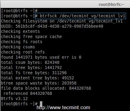 Scan Btrfs Filesystems