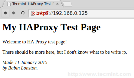 Verify SSL HAProxy