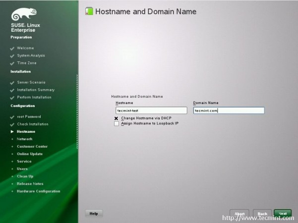Add Hostname and Domain