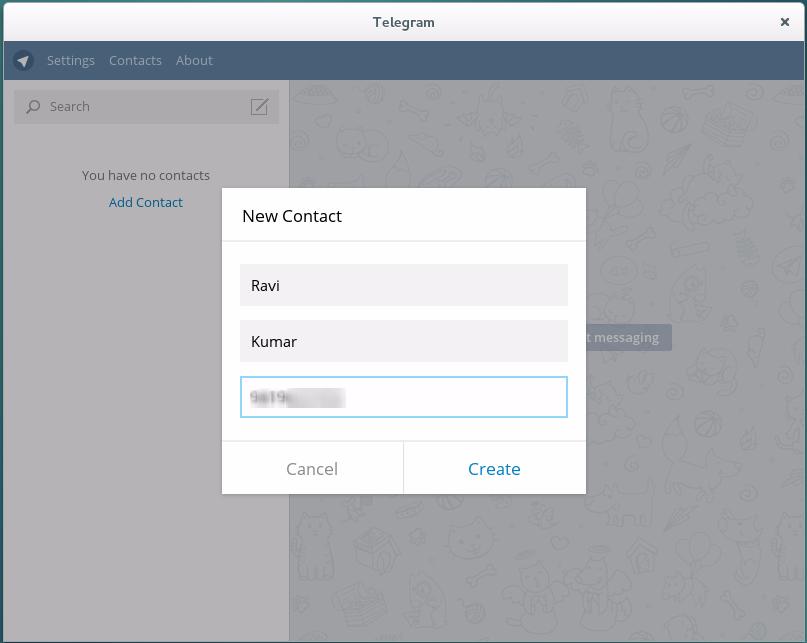 how to create telegram account