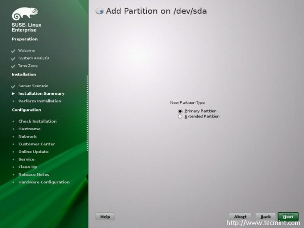 Add Partition Type