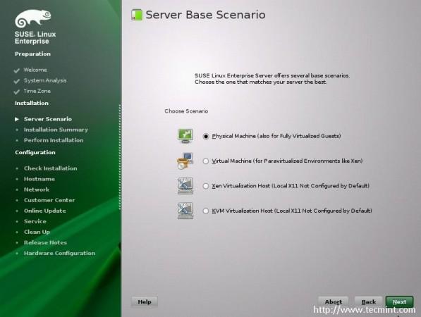 Choose Server Scenario