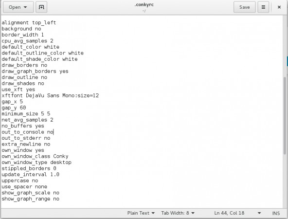 Conky Configuration