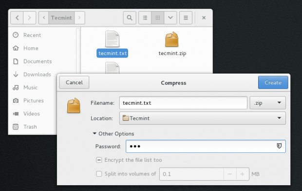 Encrypt File Using Nautilus