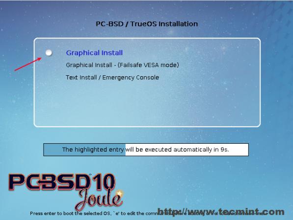 PC BSD Boot Screen