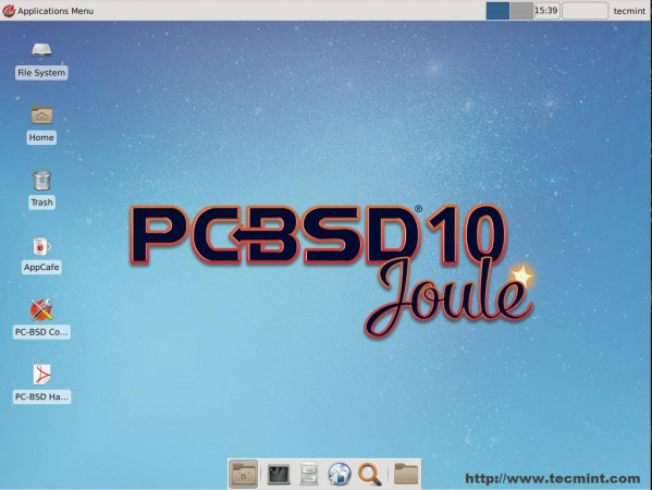 PC BSD Desktop Screen
