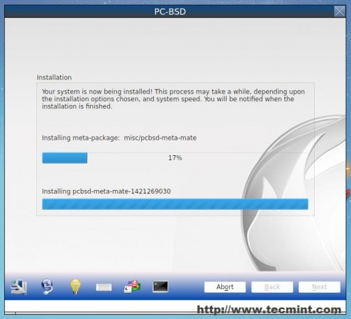 PC BSD Installation Process