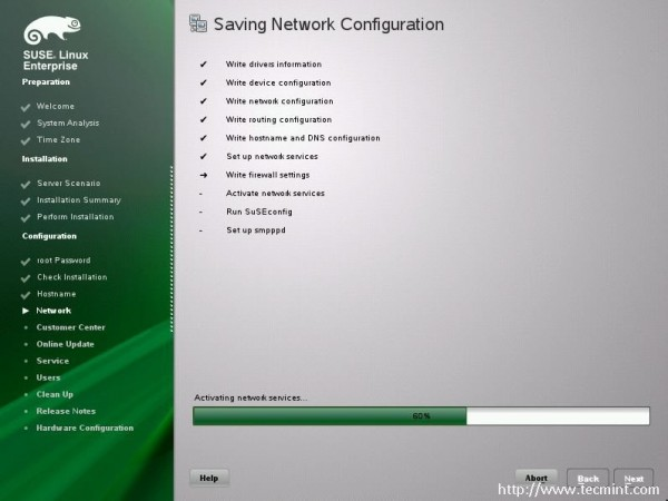 Saving Network Configuration