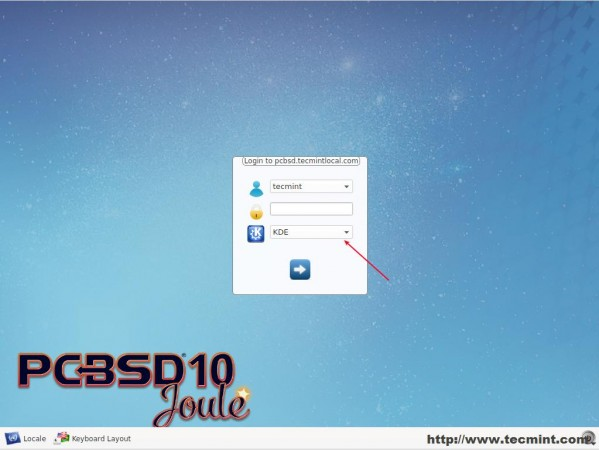Select Desktop Environment