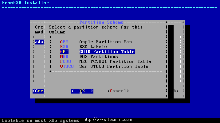 Select GPT Partition