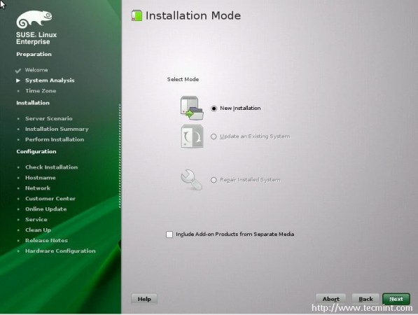 Select Installation Mode