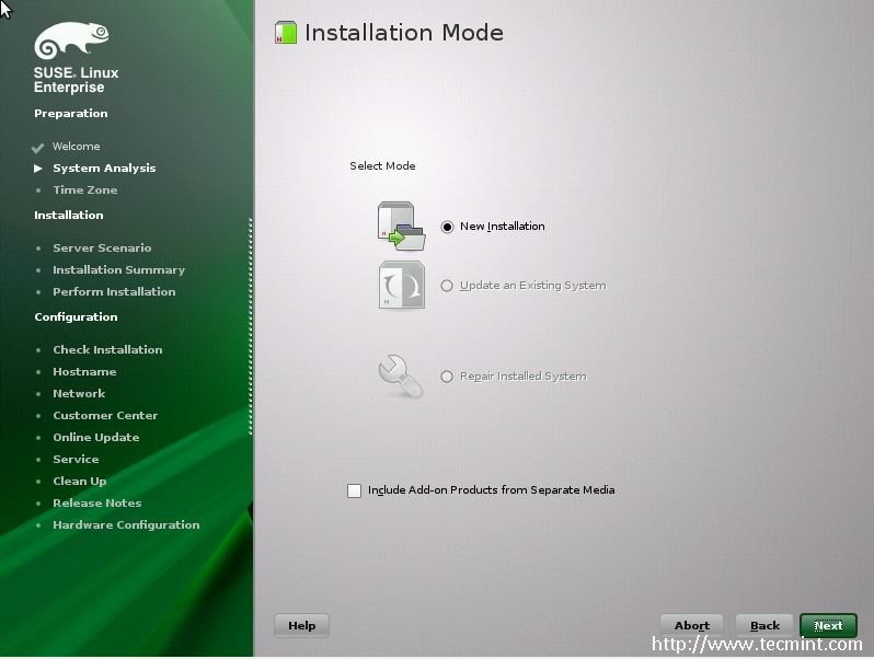 Installing SUSE Linux Enterprise Server 11 SP3 and