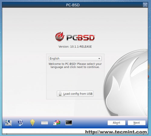 Select PC BSD Language