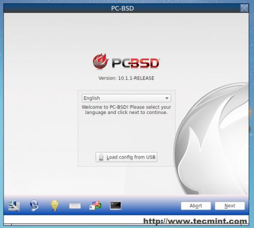 Seleccione PC BSD Language