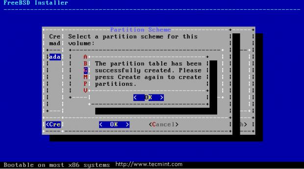 Select Partition Schema