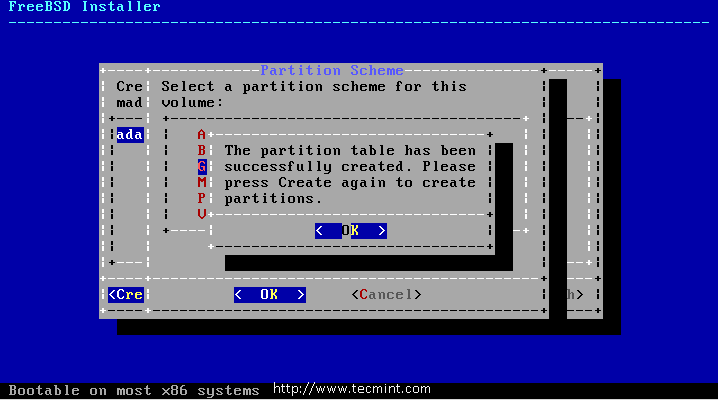 GPT Partition Created