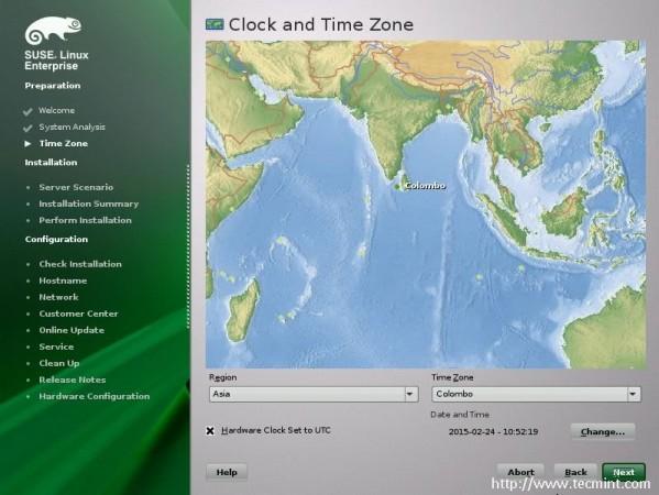 Select Timezone