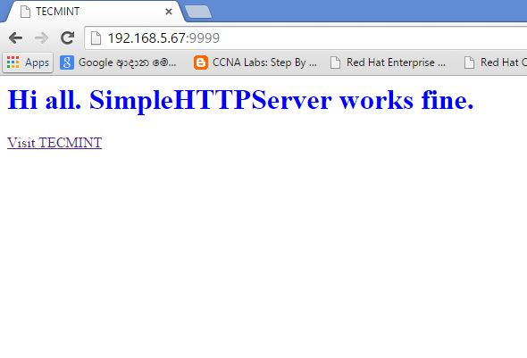 How to Use Python 'SimpleHTTPServer' to Create Webserver or
