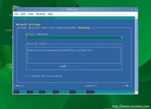 Set Default Gateway