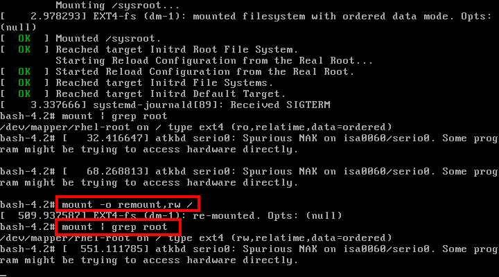 Set Permissions on Root Partition