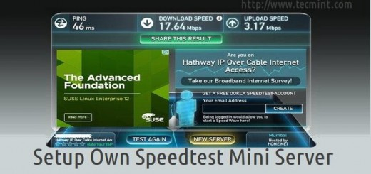 Setup Own Speed Test Mini Server