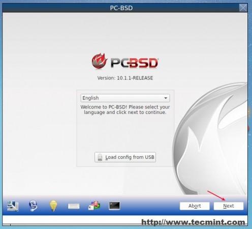 Start PC BSD Installation