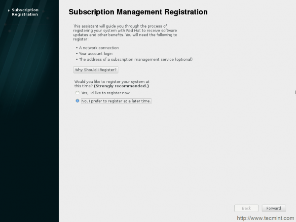 Subscription Registration