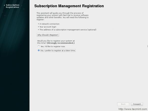 Subscription Registration