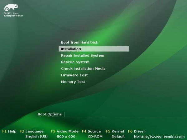 Suse Boot Options