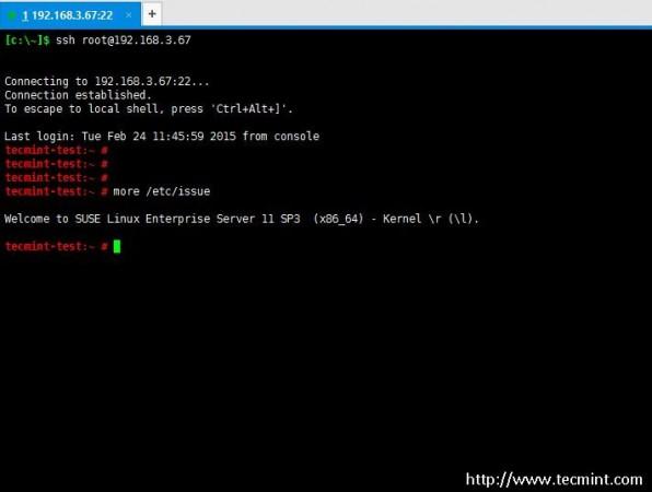Use Putty to SSH