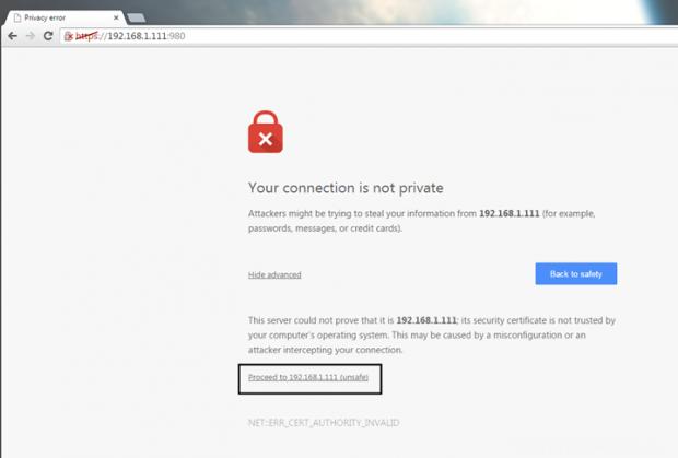 Accept SSL Certificate