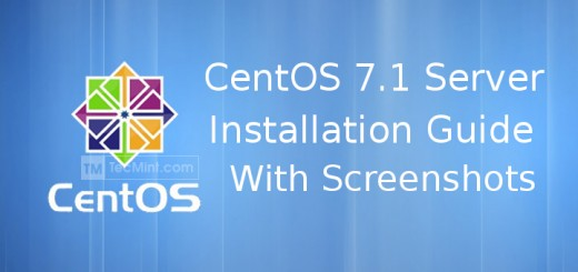 CentOS 7.1 Installation