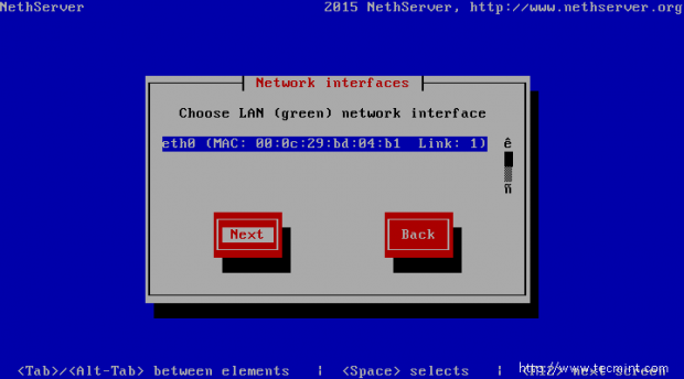 Choose Network Interface
