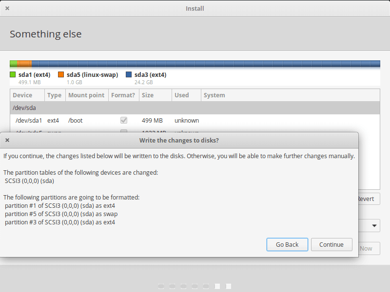 Confirm Disk Changes
