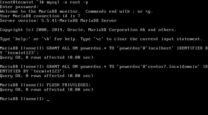 Create PowerDNS User