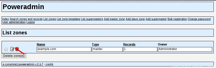 Edit DNS Zone
