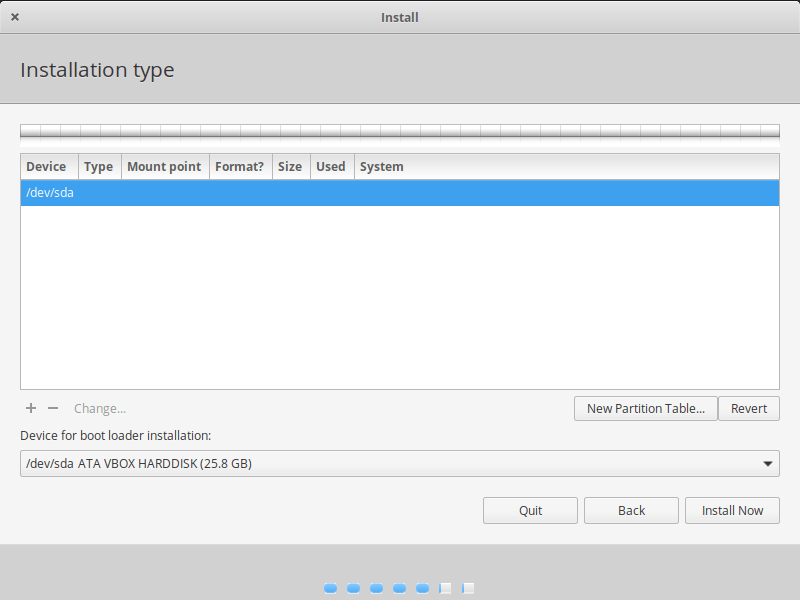 Elementary OS Partition