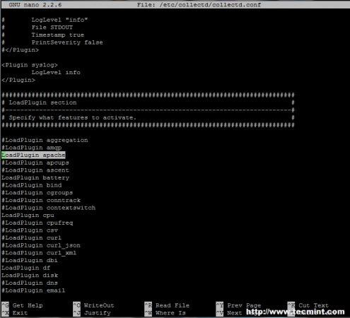 Enable Collectd Apache Plugin