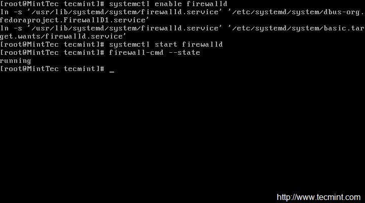 Enable Firewalld in CentOS 7