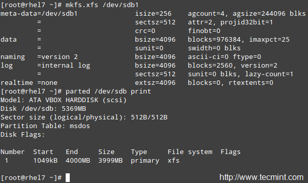 Format Partition in Linux