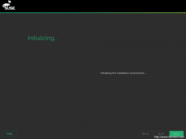 Initializing Installation
