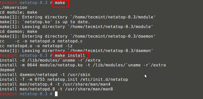 Install Netatop Module
