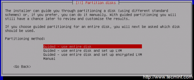 Select Guided Disk Partitioning